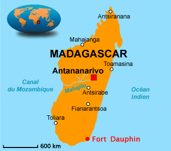 Fort Dauphin in Madagascar